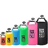 2L/5L/10L/15L/20L/30L 500D Tarpaulin Heavy-Duty PVC impermeable prueba de bolsa de saco seco para kayak/canotaje/canotaje /pesca/rafting/natación/camping/snowboard