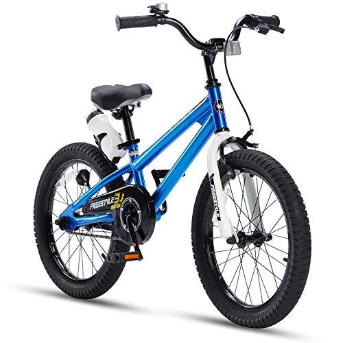 "RoyalBaby Freestyle 18"" Kids' Bike - Blue"