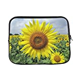 Design Custom Flower Sunflower Karnataka India Floral Plant Sleeve Soft Laptop Case Bag Pouch Skin for MacBook Air 11'(2 Sides)