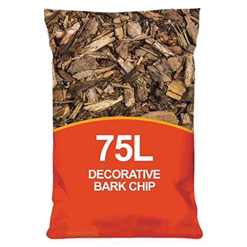 simpahome 75L Decorative Landscape Bark Spruce Wood Bark Chipping Mulch for...