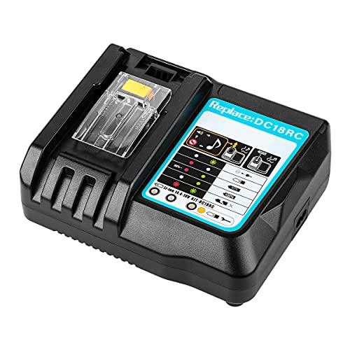 KUAMOO マキタ 充電器 DC18RC 14.4V-18V 用 互換品 14.4V/18Vリチウムイオンバッテリ用 USB端子 搭載 スマホ等 充電用USBポート付 スマホ 充電可能 マキタ 電池 BL1430 BL1440 BL1450 BL1460