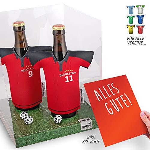 vereins-Trikot-kühler Away für FC Ingolstadt-Fans   2er Geschenk-Box-Edition  2X Trikots   Fußball Fanartikel Jersey Bierkühler by ligakakao.de