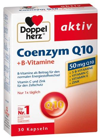 Doppelherz Coenzym Q10 + Vitamin B, 4er Pack, 4 x 30 Kapseln