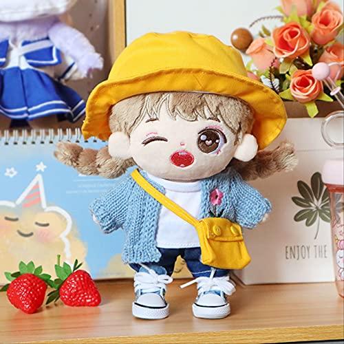 Muñeco De Peluche Hecho A Mano, con Bolsa De Ropa Sombrero Muñeco De Peluche Suave, para Niños Regalo De Cumpleaños 20Cm