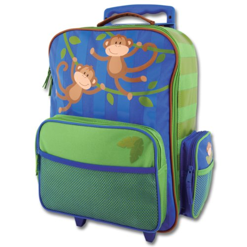 Stephen Joseph Boys Classic Rolling Luggage, Dark Blue Monkey, One Size