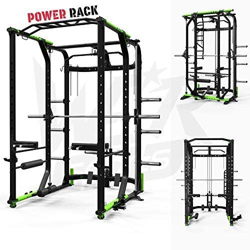 We R Sports Power Rack Gym Crossfit Rack Smith Machine - LAT Pull Down -Pull ups