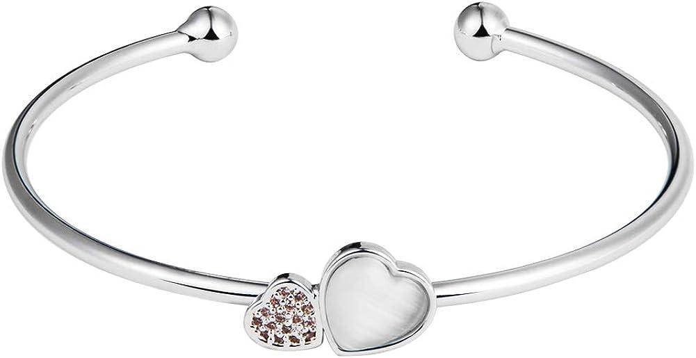Martina 18K Gold Plated Cuff Stretch Stacking Bracelet Bangles Adjustable lnlaid Rhinestone Bangle Bracelets Women Girls