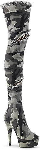 Pleaser DELIGHT-3005 Camo STR Fabric Camo STR Fabric UK UK 3 (EU 36)  se hâta de voir