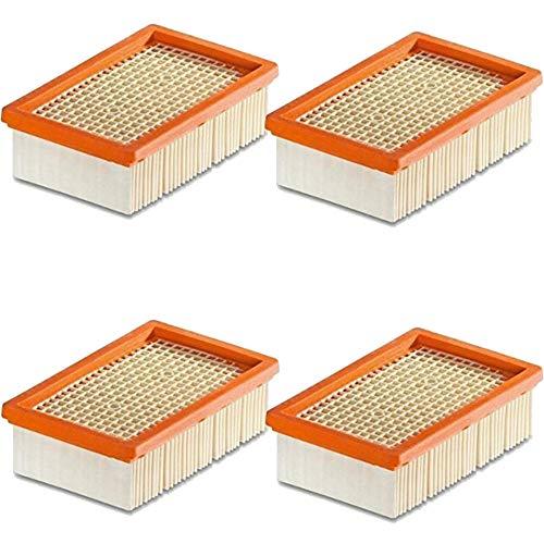 1 – 10 unidades de filtros planos para Kärcher, sustituye a los filtros originales como 2.863 – 005.0 para MV 4 5 6 P Premium (WD6, WD 6 Premium, 4 filtros)
