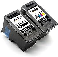 CSSTAR Remanufactured Ink Cartridge Replacement for Canon PG-245XL CL-246XL for Pixma MX492 MG2525 MG2920 MX490 MG3020...