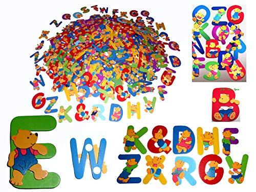 Holzbuchstaben-Namensschild Deko -Holz Teddy Bastelbuchstaben Alphabet 650 Stk.