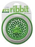 MSC International Joie Ribbit Kitchen Sink Strainer Basket, Frog, 4.5-inch, Green