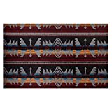 Telio Woodlands Wool Blend Coating Aztec Inspired Grey Wine, Fabric by the Yard