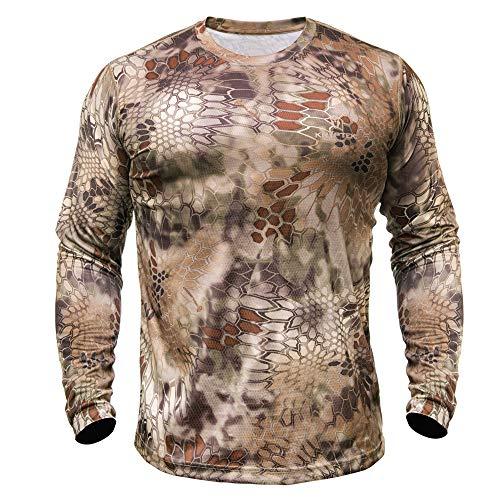 Kryptek Hyperion LS Crew – Langärmeliges Camouflage-Hemd für Jagd und Angeln (K-Ore-Kollektion) XXL Highlander