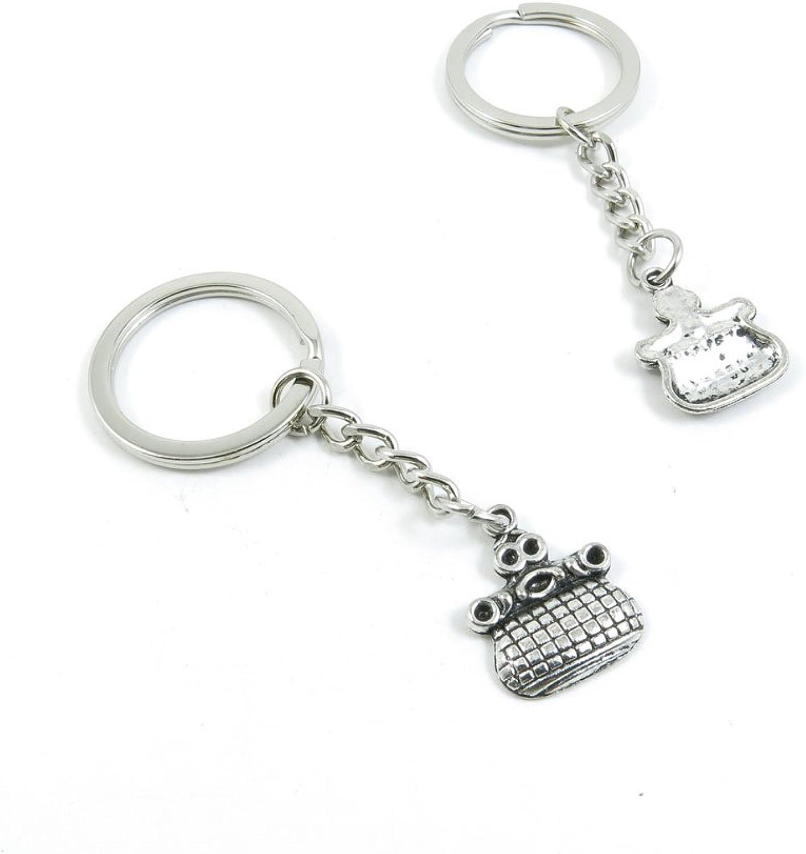 100 Pieces Keychain Keyring Door Car Key Chain Ring Tag Charms Bulk Supply Jewelry Making Clasp Findings M5KV4N Purse Handbag