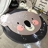 Runde Bodenmatte Kinder Niedlichen Cartoon Tierform Matte Abnehmbare Und Waschbar Teppich Baby Spiel Krabbeldecke