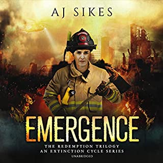 Emergence     An Extinction Cycle Story (The Redemption Series, Book 1)              By:                                                                                                                                 AJ Sikes                               Narrated by:                                                                                                                                 Bronson Pinchot                      Length: 5 hrs and 19 mins     1 rating     Overall 4.0