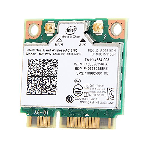 Intel Dual Band Wireless-ac 3160 3160hmw medio mini Pci-e Bluetooth Bt inalámbrico tarjeta WiFi 802.11 ac a B G N
