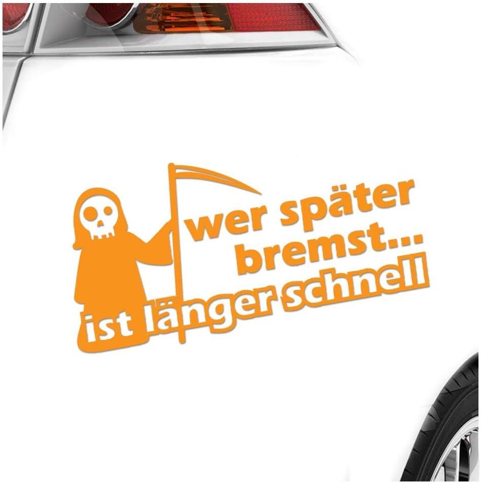 Autoaufkleber Sticker Bomb Decals Tuning Bekleben Wer sp/äter bremst ist l/änger schnell Racing KIWISTAR Aufkleber