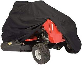 ALWWL Funda para Cortacésped, Cubierta para Cortacésped, ProteccióN UV, Impermeable, Resistente al Polvo, con Cordón, para Cortacésped y Tractor de JardíN, Negro