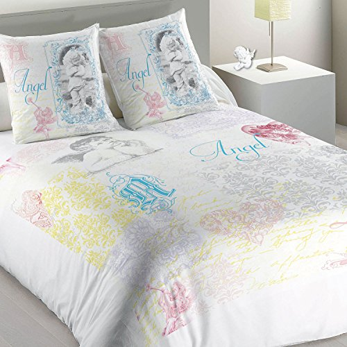 Les Ateliers du Linge Bettwäsche Angel mit Bett- und Kissenbezug bunt 270 x 300 cm