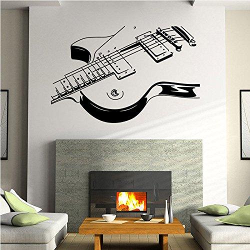 MiYan Vinilo Adhesivo de Pared extraíble con diseño de Guitarra, decoración de la habitación