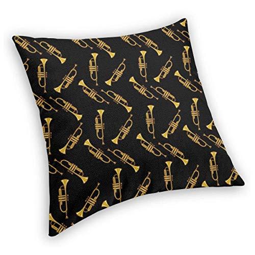 Fluwelen kussenslopen, gouden trompet zwart fluweel decoratieve kussensloop hoezen, gooien kussenslopen luxe zachte koffers voor slaapkamer, woonkamer, bank, bed 16x16in 22