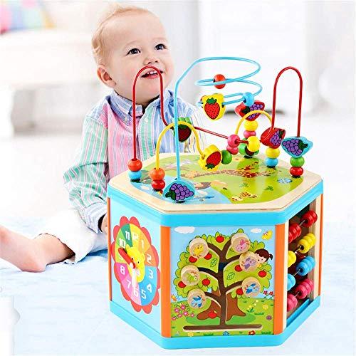 Actividad de bebé Cubo para niños pequeños juguetes - 6 en 1 Forma Clasificador Juguetes para bebés Desarrollo temprano Juguetes educativos para niños Niños Niño Preescolar Aprendizaje Juguetes Detazh