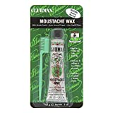 Clubman Moustache Wax with Brush Comb - Neutral 14g...