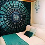 AdoDecor Tapiz de Pared Grande tapices de Mandala Colgante de Pared Elefante Boho decoración Dormitorio Pared Alfombra Manta Playa 150x100CM
