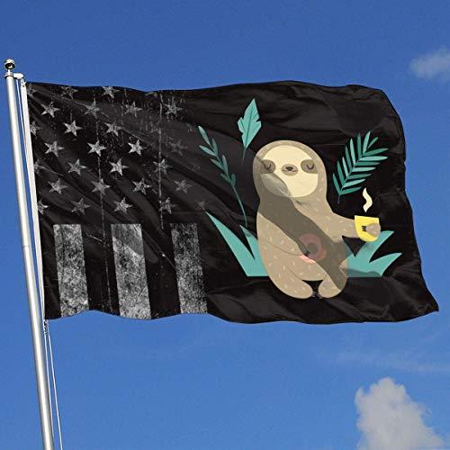 AOTADer Outdoor Flags Abgenutzte USA Flagge Clipart Kaffee Flagge für Sportfan Fußball Basketball Baseball Hockey