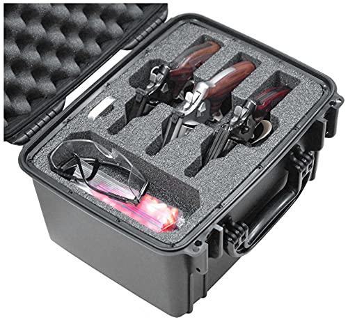 Case Club Waterproof 3 Revolver/Semi-Auto Pre-Cut Case with...