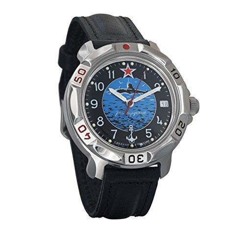 Vostok KOMANDIRSKIE 2414811163U-Boot submarino Militar ruso reloj mecánico