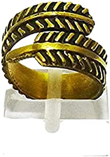 Women's Charm Copper Ring Feather shape Free Size (DAR78)