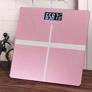 Báscula de baño Inteligente Profesional Báscula de Peso Digital electrónica Báscula de Salud del Piso del hogar Vidrio Templado LCD Durable (Color: Azul)