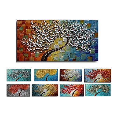 YWOHP Couteau Fleur Peinture à l'huile Abstraite Mur Artiste décoration de la Maison Peinture sans Cadre 50 cm x 80 cm sur Toile