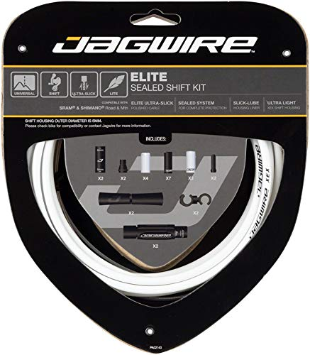 Jagwire Elite - Cables y Tubos para Adultos, Unisex, Color Blanco, Talla...