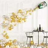 Micacorn 42 PCS Champagne Botella De Látex Globos, Globos De Confeti, Globos De Látex, Ideal para Ducha Cumpleaños De La Boda De Novia Decoración De Fiesta De Bachelorette