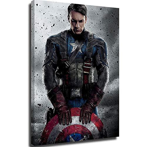 Lienzo decorativo para pared, diseño del Capitán Marvel, los Vengadores, 61 x 91 cm