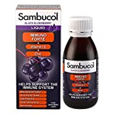 Sambucol Natural Black Elderberry Immuno Forte | Vitamin C | Zinc | Immune Support Supplement | 120ml