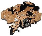 Schuco Zündapp KS 750 Afrikakorps mit Seitenwagen Beige 1/10 Modell Motorrad