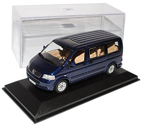 Minichamps Volkwagen T5 Personen Transporter Blau Vor Facelift 2003-2009 1/43 Modell Auto