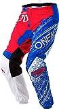 O'Neal Element Burnout MX Motocross Hose Pant Enduro Offroad Gelände Quad Cross Erwachsene, 0108, Farbe Rot Blau, Größe 38