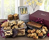 Dulcet Food Deluxe Gift Basket- Includes Scones, Cheese Brownie, Fudge Brownie, Chocolate Chip...