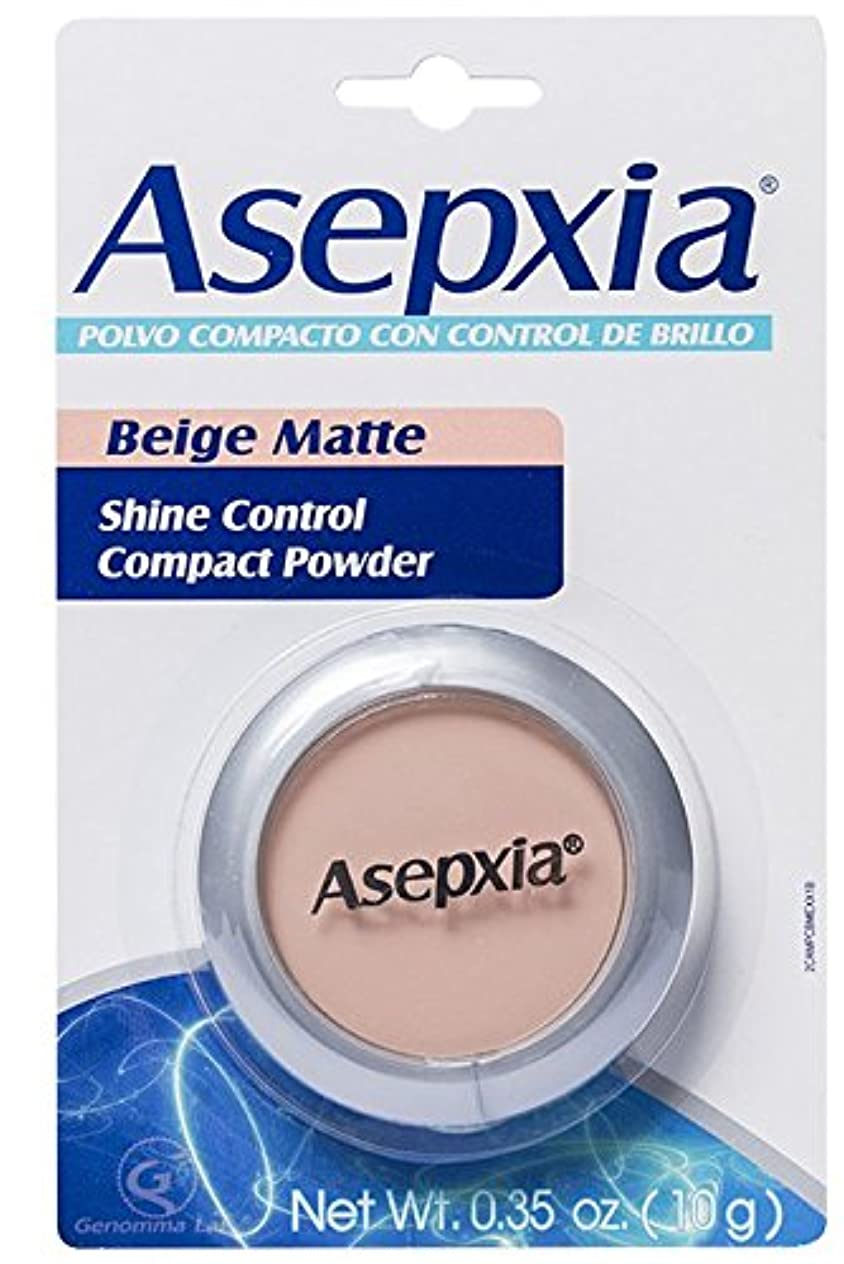 出席異形万歳Asepxia コントロールコンパクトパウダーメークアップベージュマット0.35オズシャイン