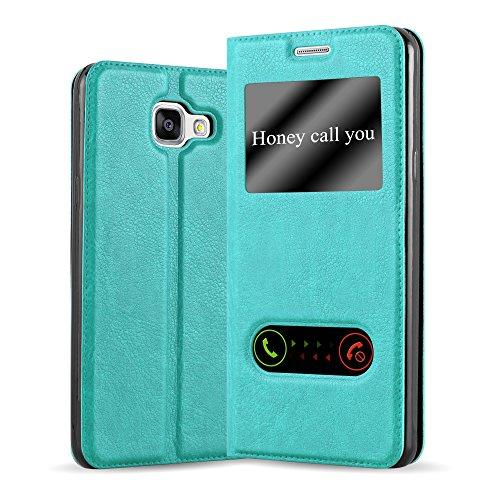 Cadorabo Custodia Libro per Samsung Galaxy A5 2016 in Turchese Menta - con Funzione Stand e Chiusura Magnetica - Portafoglio Cover Case Wallet Book Etui Protezione