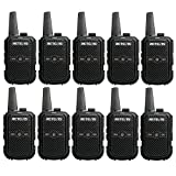Retevis RT15 Portable FRS Two-Way Radios,Adults Walkie Talkies Rechargeable,Pocket Size,Hands-Free,USB Charging,for Business(10 Pack)