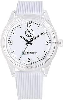 Q&Q Girls RP10J001Y Year-Round Analog Solar Powered White Watch