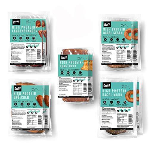 BenFit High Protein Kennenlern-Paket, Eiweißbrot/Muskelaufbau/Fitness/Bodybuilding (16g Eiweiß pro 100g)