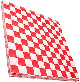 Avant Grub Deli Paper 300 Sheets. Turn Your Backyard Cookout Party into a Classic Drive-in with Red & White Checkered Food...